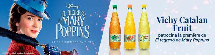 Las burbujas con zumo de Vichy Catalan acompañan a Mary Poppins en su première en España