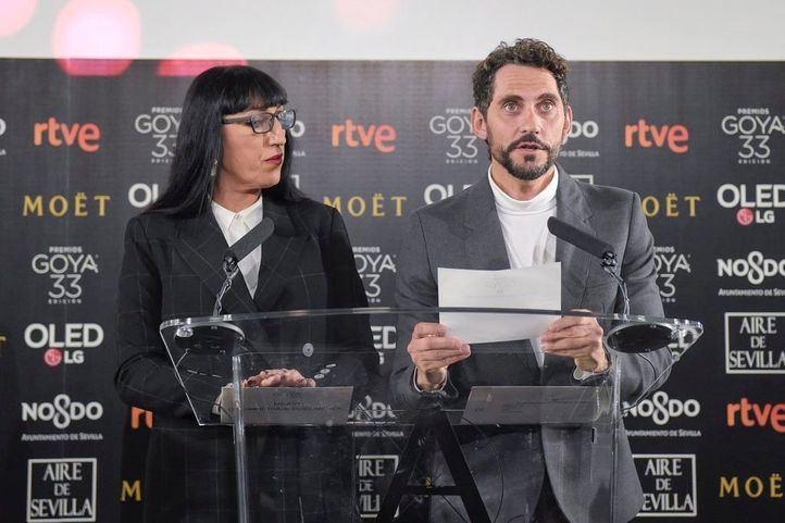 Rossy de Palma y Paco León han desvelado los aspirantes a las 28 categorías de los Premios Goya.