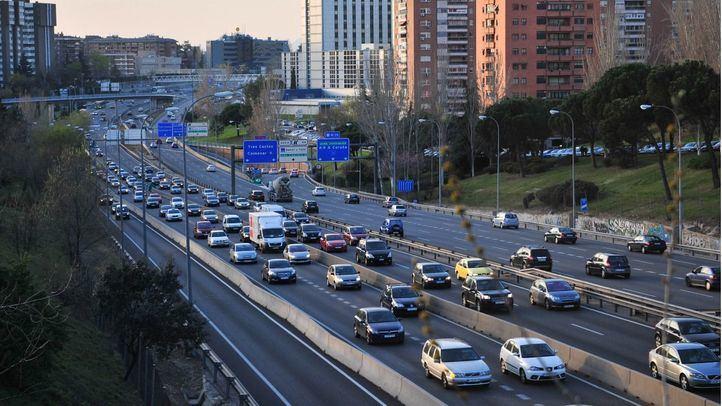 El tráfico cae un 8% en la M-30 a primera hora