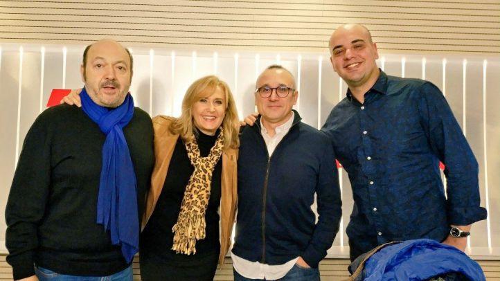 Carlos Hidalgo y Ferrán Boiza junto a Constantino Mediavilla y Nieves Herrero en Onda Madrid.