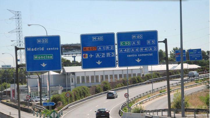 A6 carretera a La Coruña, entrada a Madrid, conexión con la M30 y M40