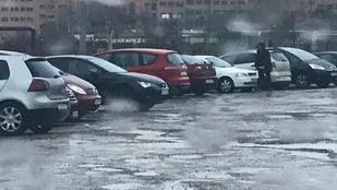 Terreno de Valdebernardo que utilizan los vecinos como aparcamiento.