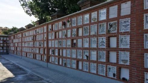 Reformas acometidas en el cementerio de la Almudena.