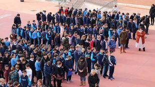 Minuto de silencio solidario en Casvi en repulsa por la muerte de la joven profesora Laura Luelmo en Huelva.