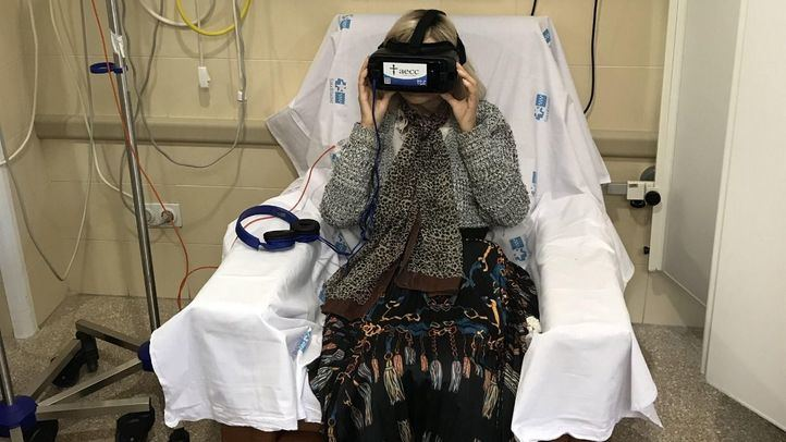 La realidad virtual reduce la ansiedad y el dolor en las sesiones de quimioterapia