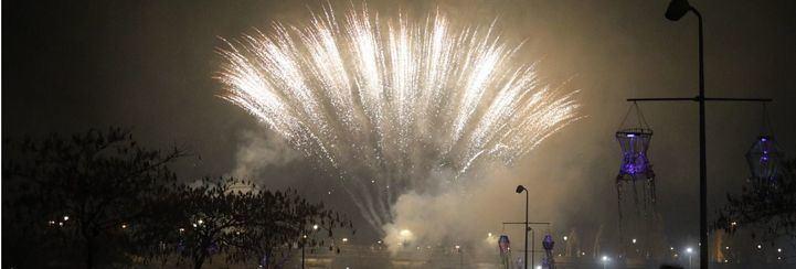 Miles de farolillos alumbran la llegada del invierno en Madrid Río