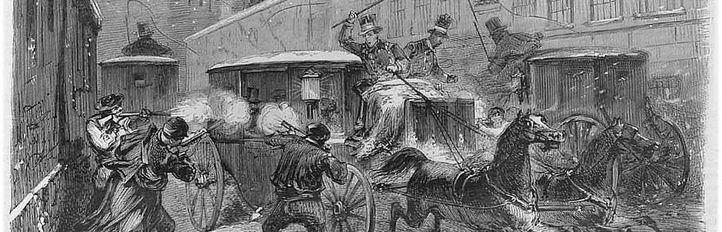 El general Prim, tiroteado en la calle del Turco