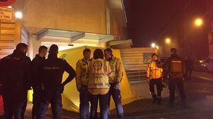 Los servicios de emergencias a las puertas del hospital Virgen de la Torre