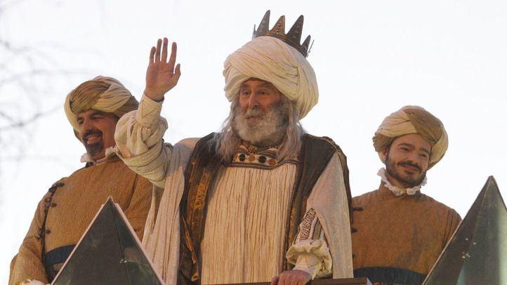 El Rey Melchor, en una imagen de la Cabalgata de Reyes de Madrid de 2018.