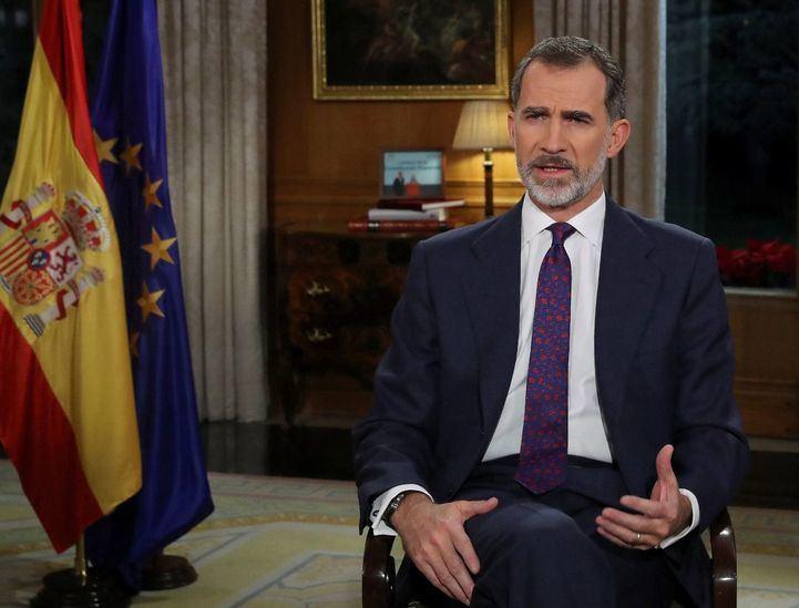 El Rey Felipe VI ha protagonizado este lunes su quinto discurso institucional de Nochebuena