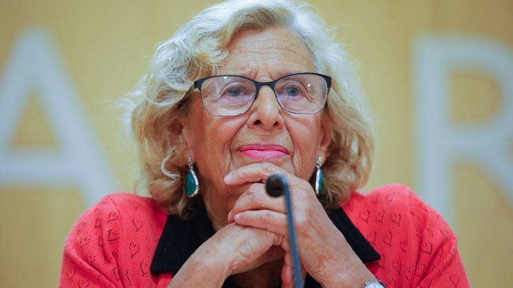 La alcaldesa del Ayuntamiento de Madrid, Manuela Carmena, en una imagen de archivo.