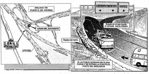 Drama navideño: un autobús choca en Puerta del Hierro y mueren 12 pasajeros