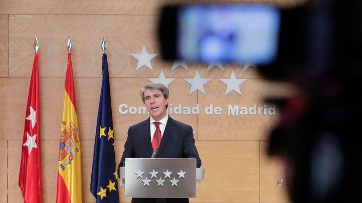 El presidente regional, durante la rueda de prensa de este jueves.