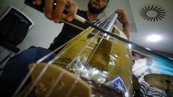 Instrumento reciclado de la orquesta de Cateura.