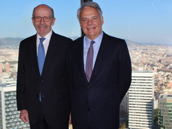 EusebioDiaz-Morera, presidente de EDM (Izq) e IgnacioGarralda, presidente de Mutua Madrileña.