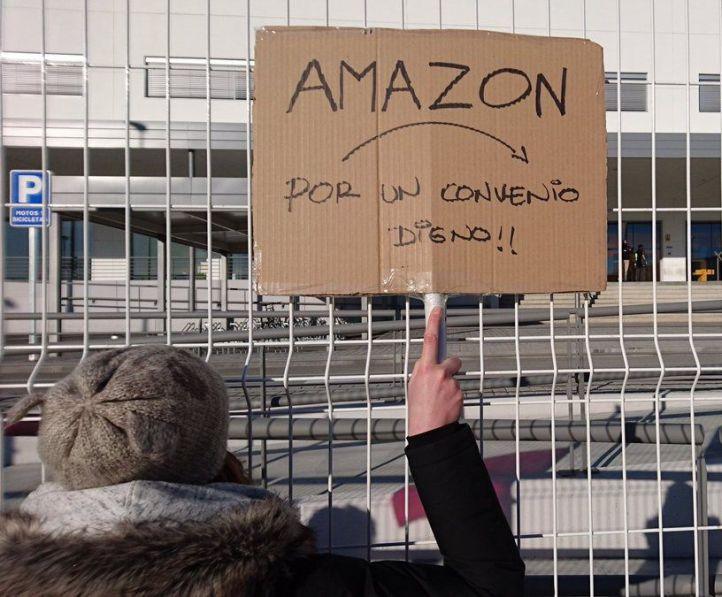 Los sindicatos cifran en un 60% el seguimiento de la huelga en Amazon