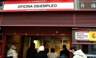 Colas del paro en la Comunidad de Madrid.