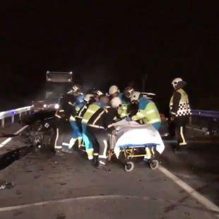 Tres heridos en dos accidentes en Fuenlabrada