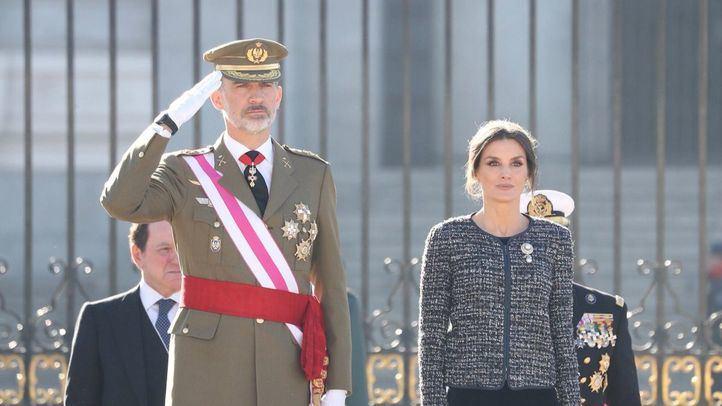 El Rey Felipe VI y la Reina Letizia en la Pascua Militar.