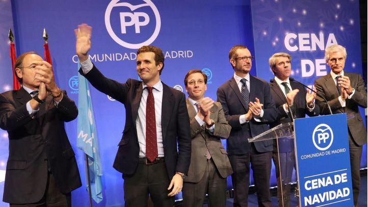 Pío García-Escudero, Pablo Casado, José Luis Martínez-Almeida, Javier Maroto, Ángel Garrido y Adolfo Suárez Illana.
