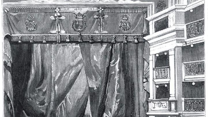 Grabado de La Ilustración Española publicado tras la reforma del Teatro Español entre 1925 y 1929