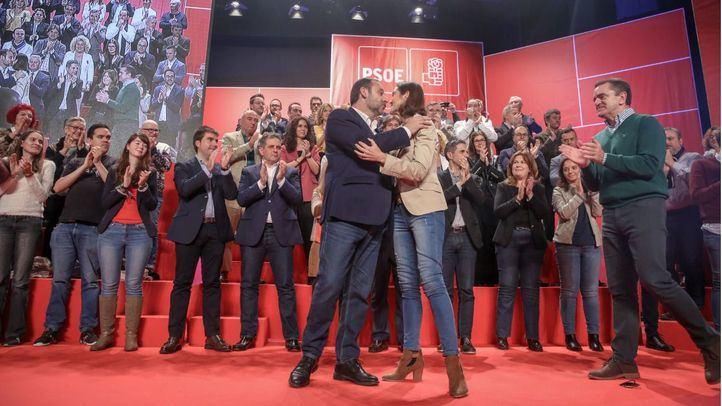 Reyes Maroto, en uno de los últimos actos del PSOE-M donde se oficializaron los candidatos de la formación a los municipios de más de 20.000 habitantes.