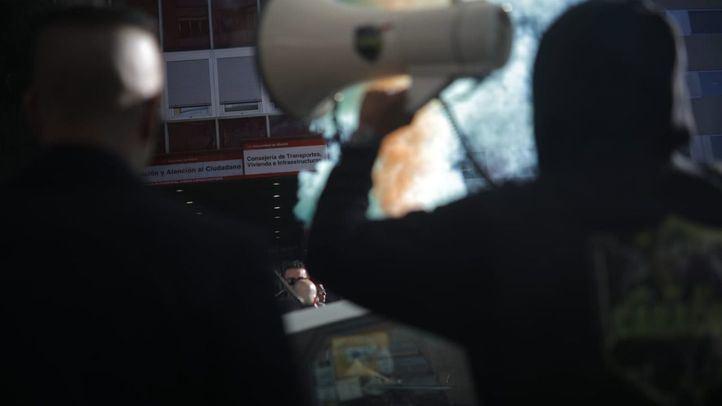 Taxistas madrileños se han manifestado para que se cumpla la licencia 1/30 respecto a la VTC en la Comunidad