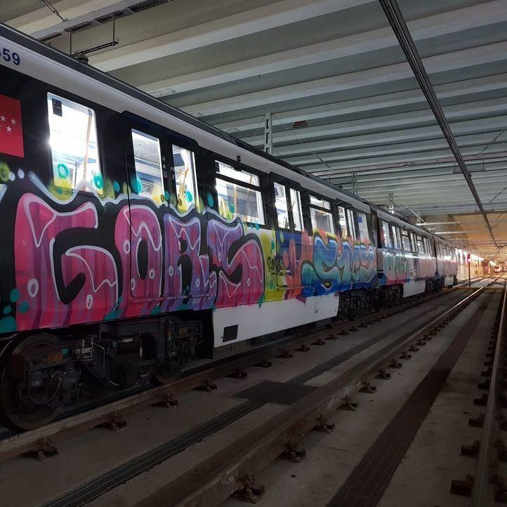 Los grafiteros vuelven a actuar en el Metro de Madrid