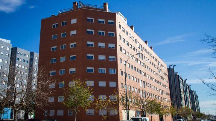 Edificios del Ivima vendidos a fondos buitre en el Ensanche de Vallecas.