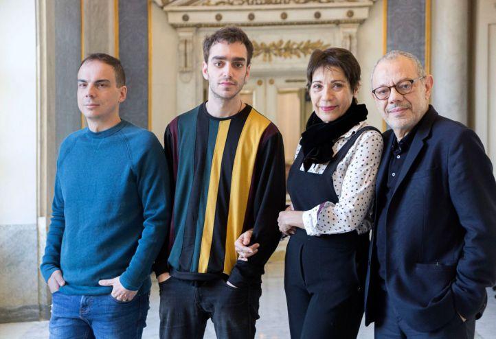 Alberto Conejero, los actores Nacho Sánchez y Emma Vilarasau y el director Lluís Pasqual