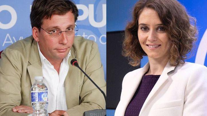 José Luis Martínez-Almeida e Isabel Díaz Ayuso.