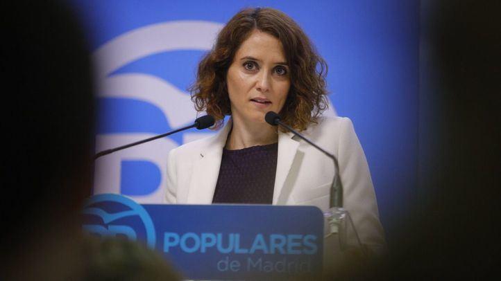 La vicesecretaria de comunicación del PP de Madrid, Isabel Díaz Ayuso.
