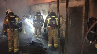 Un incendio afecta a tres infraviviendas en Leganés