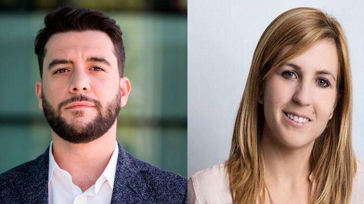 César Zafra, portavoz adjunto de Ciudadanos Madrid, y Ana Pérez Baos, portavoz adjunta del grupo parlamentario del Partido Popular.