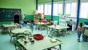 Un aula infantil de un colegio público de Villaverde.