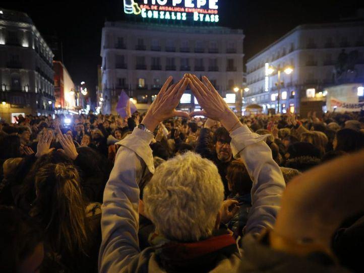 La Puerta del Sol desborda feminismo contra el discurso de Vox