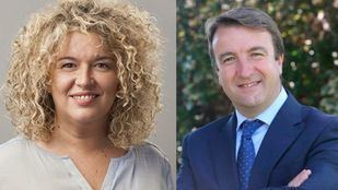 La alcaldesa del Ayuntamiento de Aranjuez, Cristina Moreno, y el alcalde del Ayuntamiento de Tres Cantos, Jesús Moreno.
