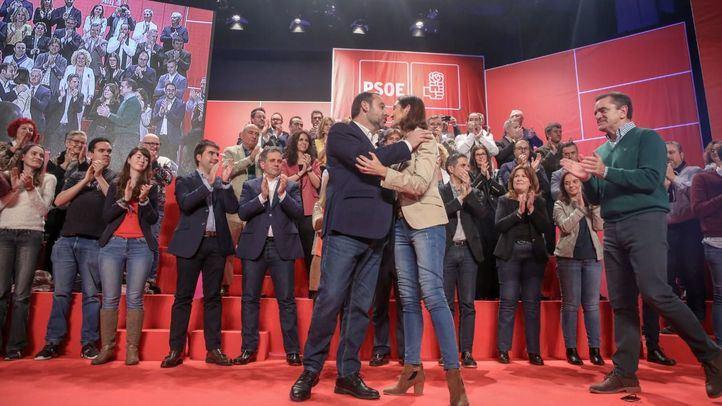 Reyes Maroto, posible candidata a la Alcaldía de Madrid, en uno de los últimos actos del PSOE-M.
