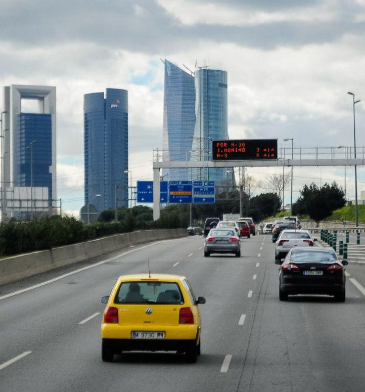 Autovía A1 entrando a Madrid.