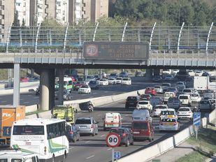 Madrid, en el escenario 1: velocidad limitada en M-30 y accesos