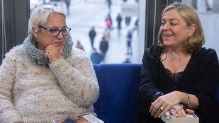 Entrevista a Mayda Bustamante y Consuelo Sánchez Naranjo por la publicación del libro 'Los cuentos que Pessoa no escribió' en la Terraza de Gran Vía.