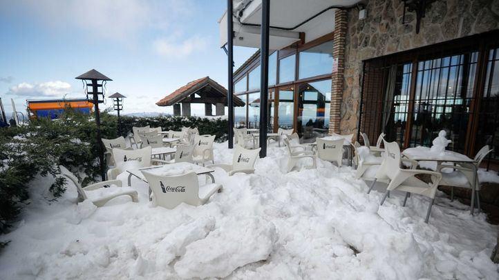 Nieve en el Alto del León.