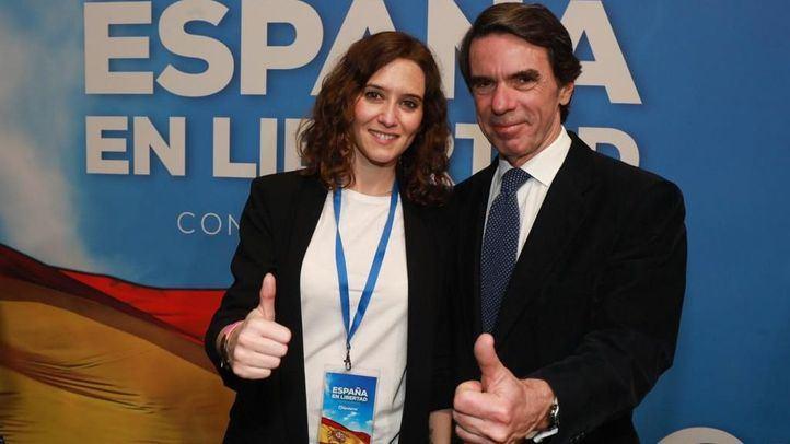 Isabel Díaz Ayuso junto a José María Aznar.