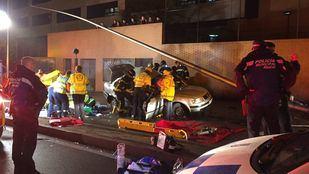 Un accidente en Sinesio Delgado deja un fallecido y un herido en estado crítico