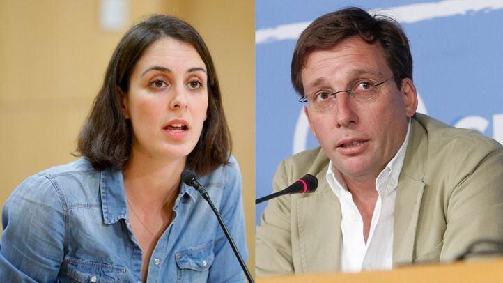 Rita Maestre y Jose Luis Martínez-Almeida.