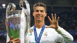 Cristiano Ronaldo durante su etapa en el Real Madrid.