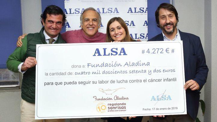 Alsa dona a la Fundación Aladina 4.272 euros gracias a la solidaridad de sus empleados