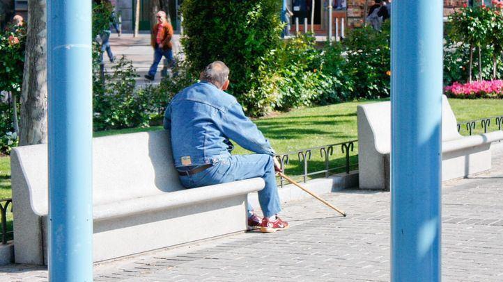 Persona de avanzada edad. Foto de archivo.