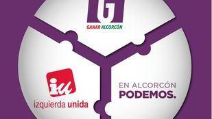 Ganar Alcorcón, Podemos e IU confluirán en una misma candidatura en las elecciones municipales de mayo.