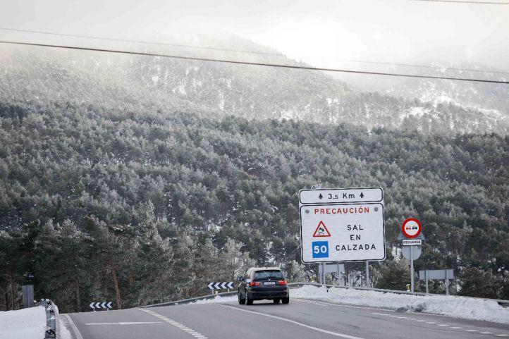 La nieve regresa a la Sierra y el frío se instala en la región